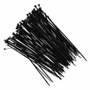 100x kerstverlichting ophang/bevestiging materiaal tiewraps zwar