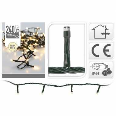 2x stuks kerstverlichting led lichtsnoer van 21 meter wit 240 lampjes