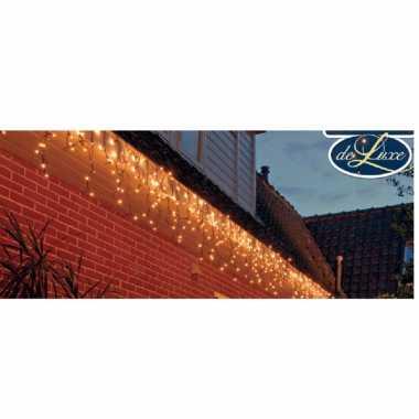 Ijspegelverlichting lichtsnoeren met 100 warm witte lampjes