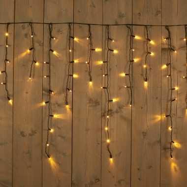 Ijspegelverlichting lichtsnoeren met 200 warm witte lampjes