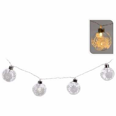 Kerstballen kerstslinger met led lampjes - Soest