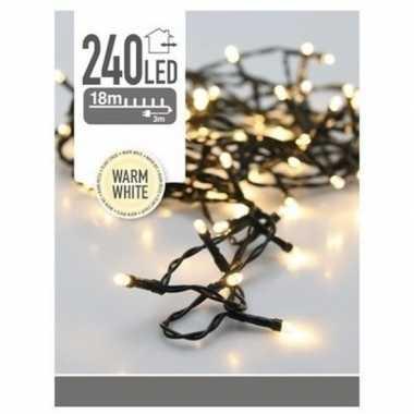 Kerstverlichting led lichtsnoer van 21 meter wit 240 lampjes