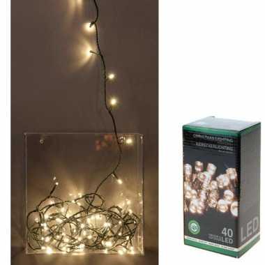 Kerstverlichting led lichtsnoer van 3 meter warm wit