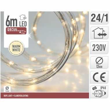 Kerstverlichting lichtslang warm wit buiten 6 meter