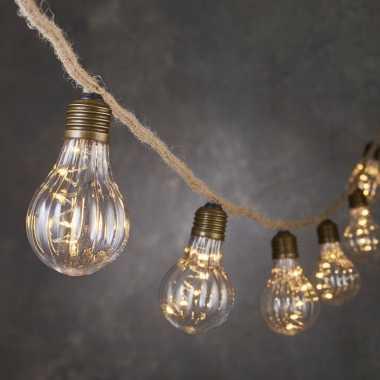Lichtsnoer touwverlichting met 10 peertjes en 50 leds 815 cm