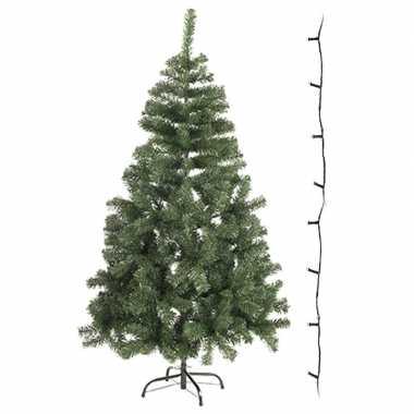 Mini kunst kerstboom 60 cm met gekleurde verlichting