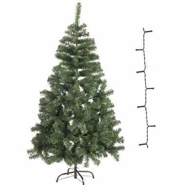 Mini kunst kerstboom 60 cm met warm witte verlichting