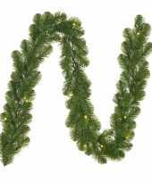 Dennenslinger dennen guirlande groen met verlichting 20 x 270 cm