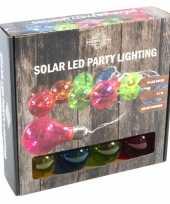 Solar kerstverlichting tuinverlichting met 10 neon gekleurde lampjes