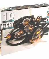 Vlamverlichting lichtsnoer met 10 flame effect lampjes 150 cm